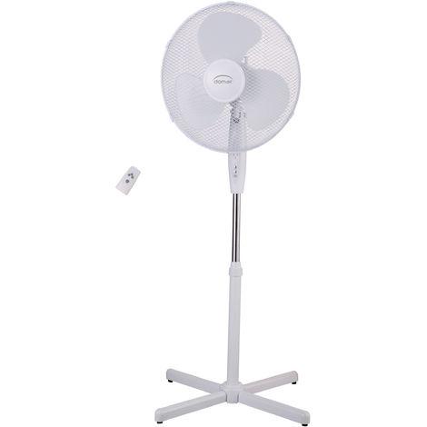 DOMAIR FL40RM - Ventilateur sur Pied - Avec télécommande - 45 Watts - 3 Vitesses - Oscillation Automatique - 3 Modes de Fonction