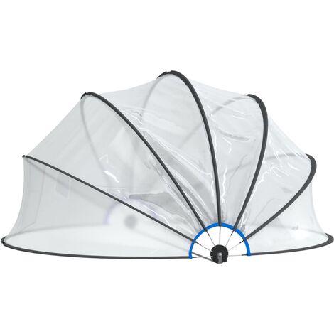 Dôme de piscine 500x250 cm
