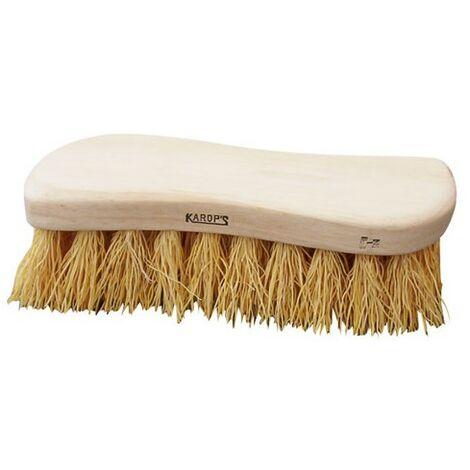 DOMERGUE - Brosse de nettoyage - forme torsé - monture en bois - fibre de chiendent 45 mm