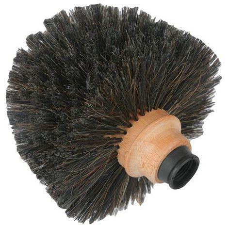 DOMERGUE - Tête de loup forme boule - fibres en crin + douille