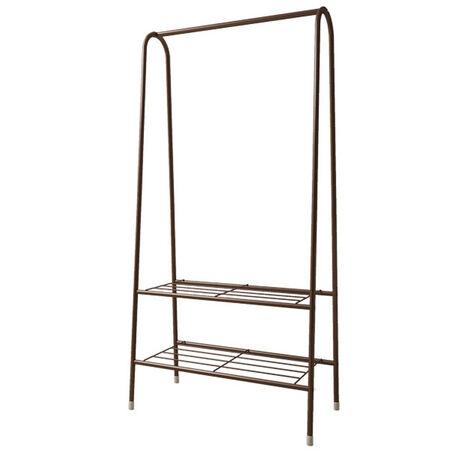 Domestic Bedroom Single Lever Metal Shelf Drying Clothes Rack Metal 60x36x153cm black