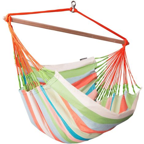 Domingo Coral - Chaise-hamac lounger outdoor - Multicolore