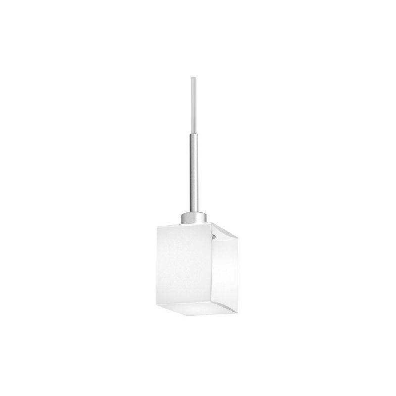 Domino Haengelampe - Kronleuchter - Deckenkronleuchter - Grau, Weiss aus Glas, 11 x 8 x 26 cm, 1 x G9, Max 60W, 220-240V - HOMEMANIA