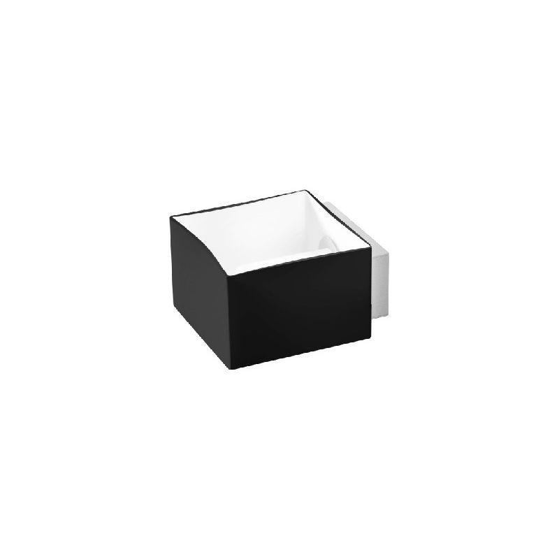 Homemania - Domino Wandleuchte - Deckenleuchte - Quadratisch - von Wand zu Wand -Grau, Weiss, Schwarz aus Glas, 11 x 8 x 13 cm, 1 x G9, Max 60W,