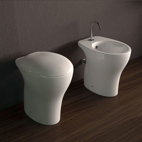 Domus Falerii Mascalzone Light - Duo des sanitaires à poser au sol. (code mascalzone_light-SoftClose)