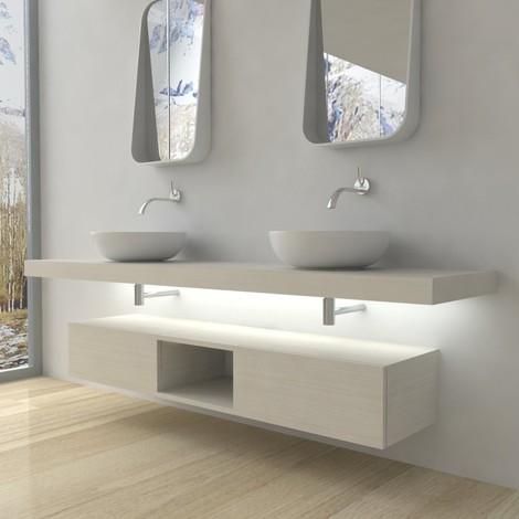 Serie Completa Accessori Bagno.Domus Mobile Completo Arredo Bagno Bianco Larice 353 43608