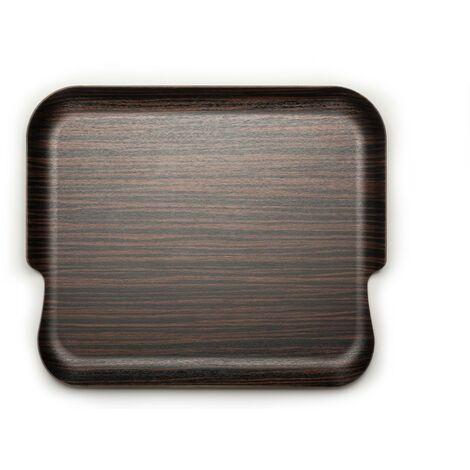 DON HIERRO, Delica - Bandeja madera natural grande, 2 manos,. Diseño y fabricación española.