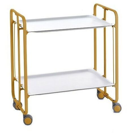 DON HIERRO - Table roulante pliante BAUHAUS 2 plateaux ocre