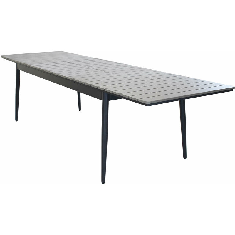 Tavolo Da Giardino Allungabile In Alluminio E Polywood 160/240 X 90 Colore Antracite,Grigio - MILANI HOME
