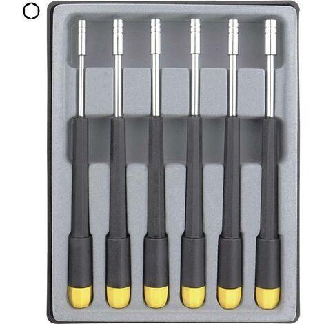 Donau Elektronik pour l'électronique et la mécanique de précision Jeu de tournevis 6 pièces 6 pans extérieurs C94804