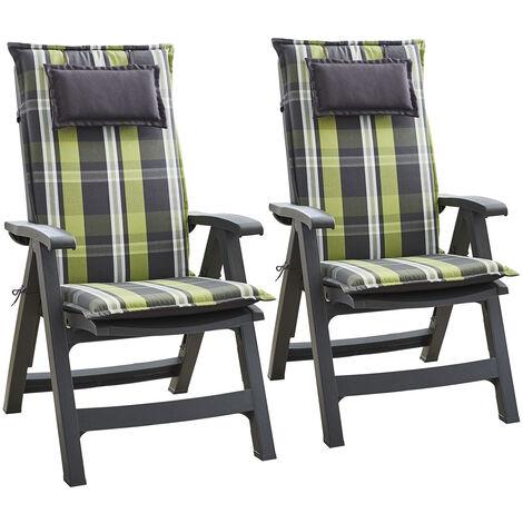 "main image of ""Donau, Upholstery, Armchair Cushion, High-Back Garden Chair, Polyester, 50x120x6cm"""