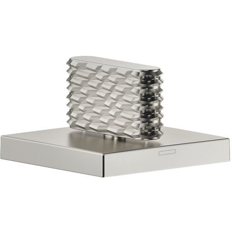 """Donbracht CL.1 válvula lateral de cierre a la derecha, 1/2"""" con diseño de estructura 2 para bañera, color: Mate platino - 20002705-06"""