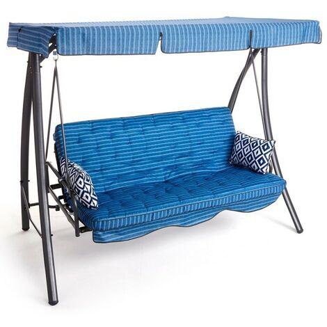 Dondolo Letto.Dondolo Letto Panama 3 Posti 171x200x113cm Colore Blu
