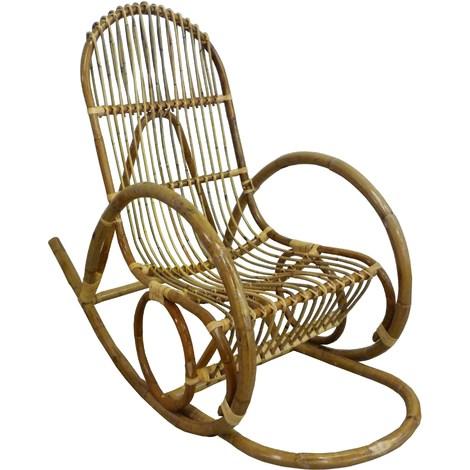 Mobili In Giunco E Rattan.Dondolo Sedia Poltrona Manao In Vimini Bambu Giunco E Rattan