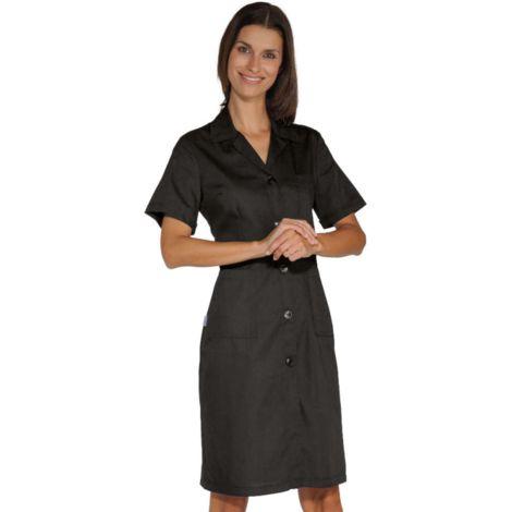 DONNA Blouse de travail femme légère à manches courtes et à boutons 125g/m² Isacco
