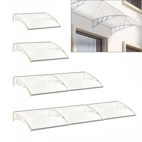 Door Canopy Awning Window Rain Snow Shelter Curved Sheet