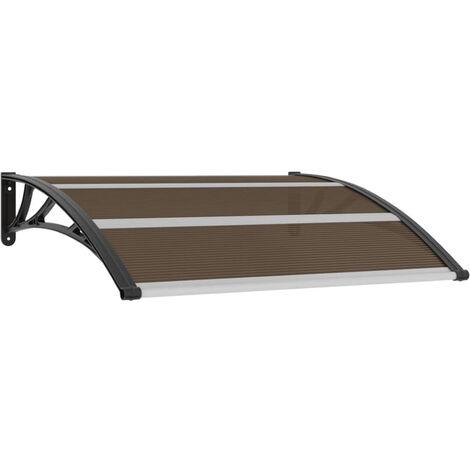 Door Canopy Black 120x100 cm Plastic