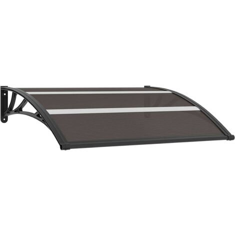 Door Canopy Black 120x80 cm PC