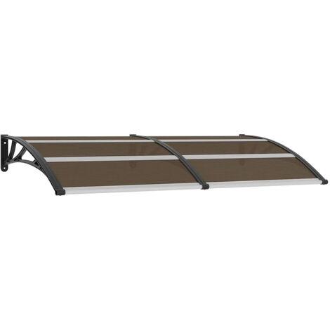 Door Canopy Black 200x100 cm Plastic
