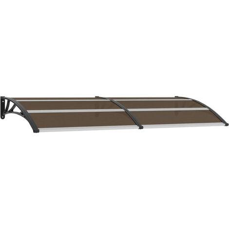 Door Canopy Black 240x100 cm Plastic