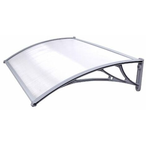 Door Canopy Door Entry Awning Semi-Transparent 125 x 75cm GVH017