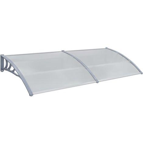 Door Canopy Grey 240x100 cm Plastic