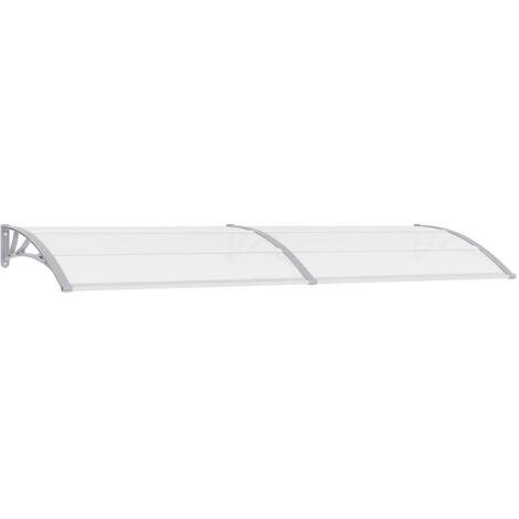Door Canopy Grey and Transparent 300x80 cm PC