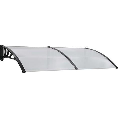 Door Canopy White 200x100 cm Plastic