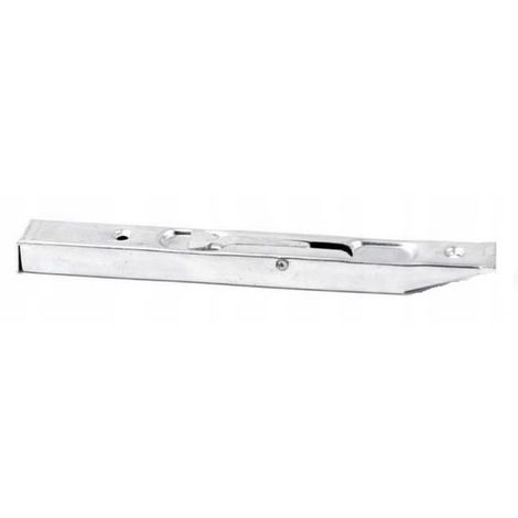 Door cantilever latch narrow 16 cm white zinc
