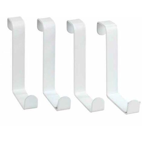 Door clothes rack hooks white matt WENKO