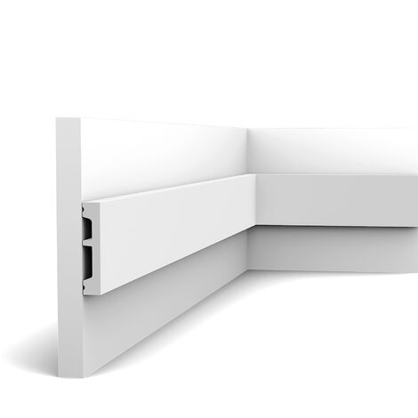 """main image of """"Door frame Orac Decor DX157-2300-RAL9003 AXXENT SQUARE Decorative moulding Panel moulding Skirting contemporary design white 2,3 m"""""""