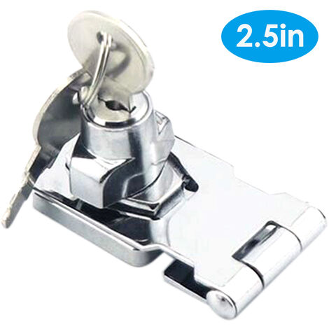 Door Lock Latch Cabinet Locks with Keys Hasp Lock