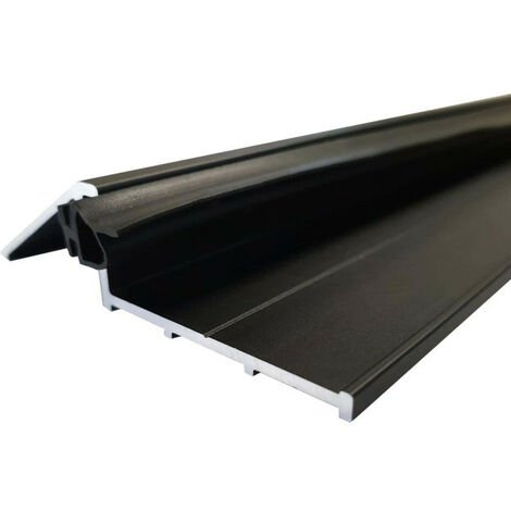 Door sill 93 cm with seal - black anodized