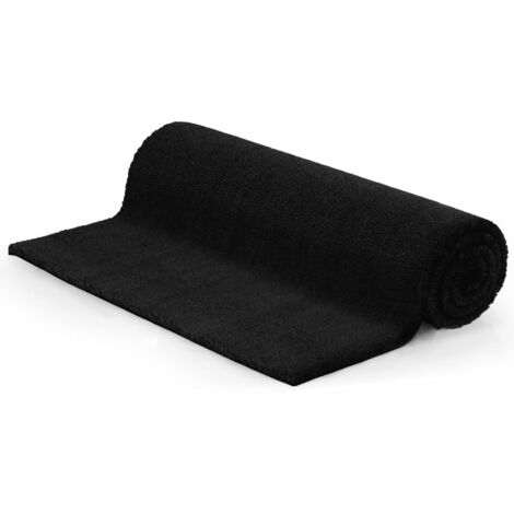 Doormat Coir 17 mm 100x200 cm Black