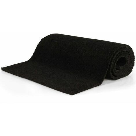 Doormat Coir 17 mm 100x400 cm Black