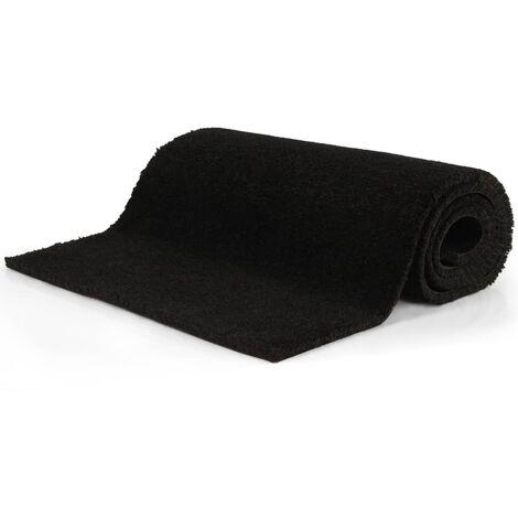 Doormat Coir 17 mm 100x400 cm Black - Black