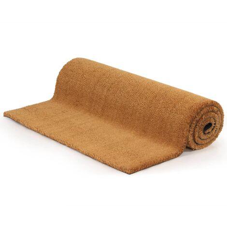 Doormat Coir 24 mm 100x100 cm Natural