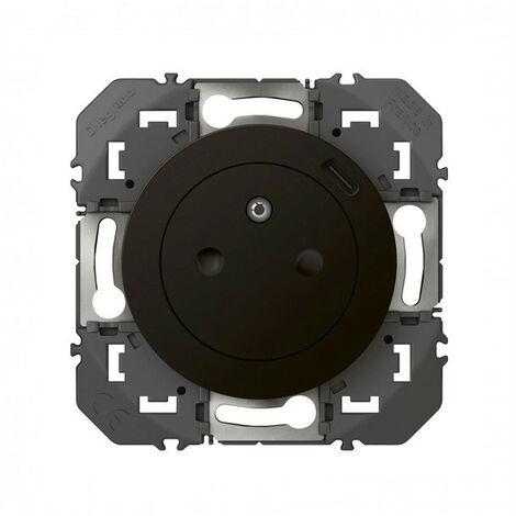 Dooxie prise de courant + chargeur usbx1 type c 1 poste composable noir (095280)