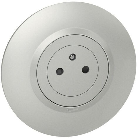 Dooxie prise de courant surface avec terre aluminium complet deco (095085)