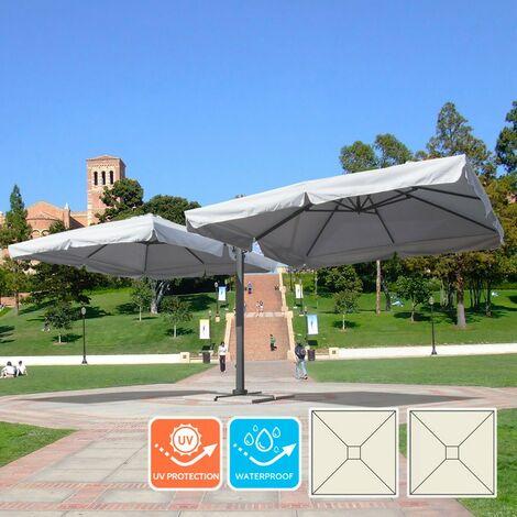 Doppel Ampelschirm quadratisch 3x3 für Garten Pendelschirm Alu OSLO