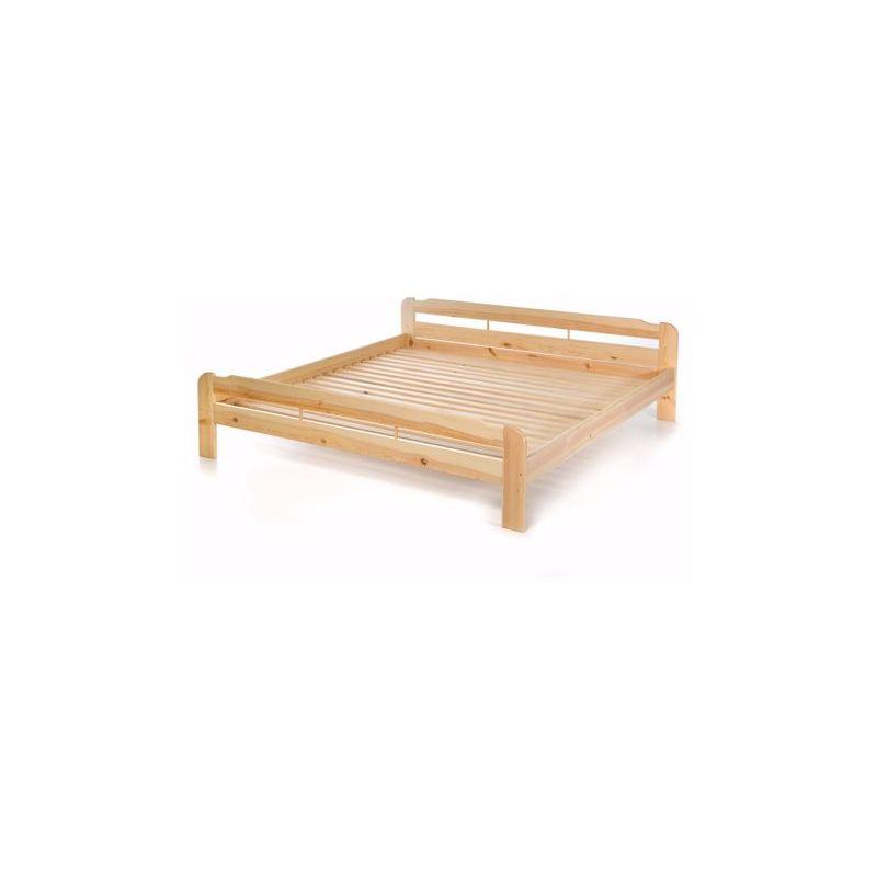 Doppelbett mit Lattenrost aus Kiefer massiv - 200x200 cm Massives Holz-Bett - ACERTO®