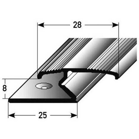 """Doppelklemmprofil """"Athlone"""" für Laminat, 8 mm Einfasshöhe, Aluminium eloxiert, gebohrt"""