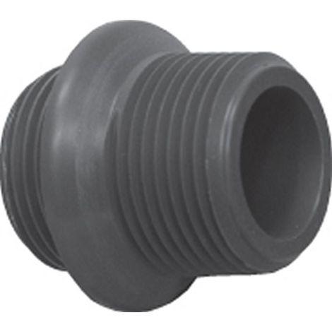 Doppelnippel, reduziert, PVC, 1 Zoll AG x ¾' AG mit Dichtung
