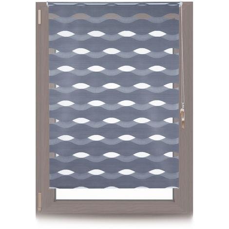Doppelrollo Klemmfix, ohne Bohren, Blickschutzgrad variierbar, Gesamt: 110x150cm, Stoffbreite 106cm, anthrazit