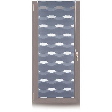 Doppelrollo Klemmfix, ohne Bohren, Blickschutzgrad variierbar, Gesamt: 60x150cm, Stoffbreite 56cm, anthrazit