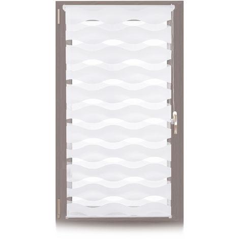 Doppelrollo Klemmfix, ohne Bohren, Blickschutzgrad variierbar, Gesamt: 70 x 150 cm, Stoffbreite 66 cm, weiß