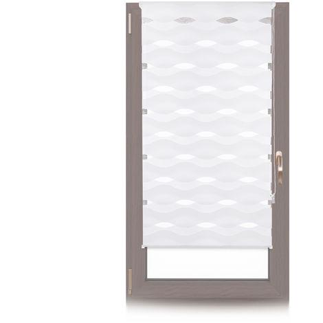 Doppelrollo Klemmfix, ohne Bohren, Blickschutzgrad variierbar, Gesamt: 80 x 150 cm, Stoffbreite 76 cm, weiß