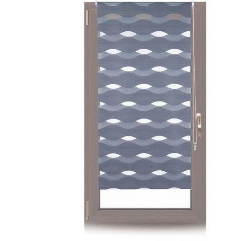 Doppelrollo Klemmfix, ohne Bohren, Blickschutzgrad variierbar, Gesamt: 80x150cm, Stoffbreite 76cm, anthrazit