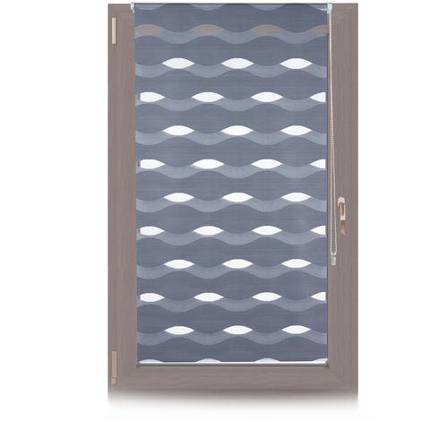 Doppelrollo Klemmfix, ohne Bohren, Blickschutzgrad variierbar, Gesamt: 85x150cm, Stoffbreite 81cm, anthrazit