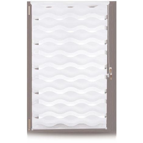 Doppelrollo Klemmfix, ohne Bohren, Blickschutzgrad variierbar, Gesamt: 90 x 150 cm, Stoffbreite 86 cm, weiß